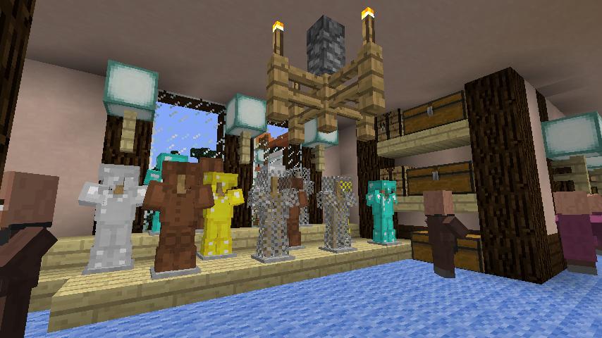 Minecrafterししゃもがマインクラフトでぷっこ村に服屋を作る10