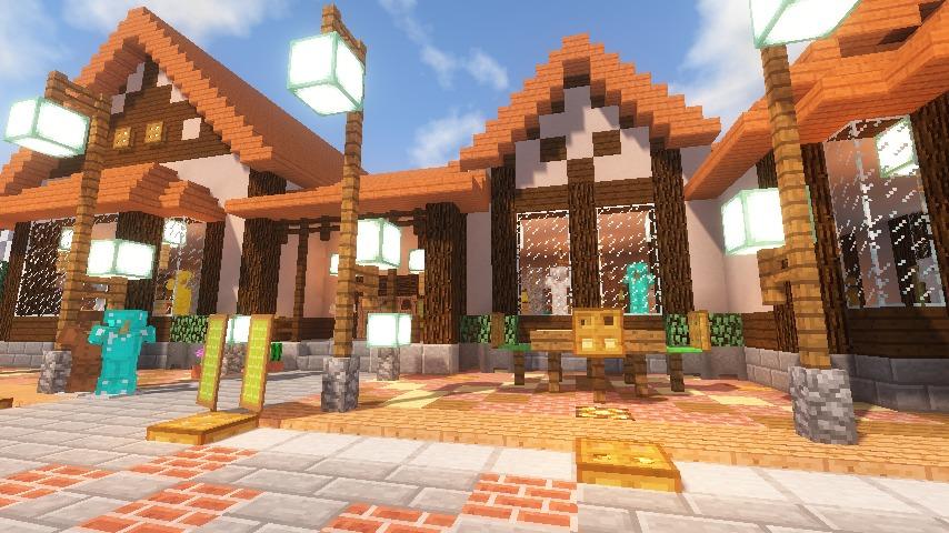 Minecrafterししゃもがマインクラフトでぷっこ村に服屋を作る13