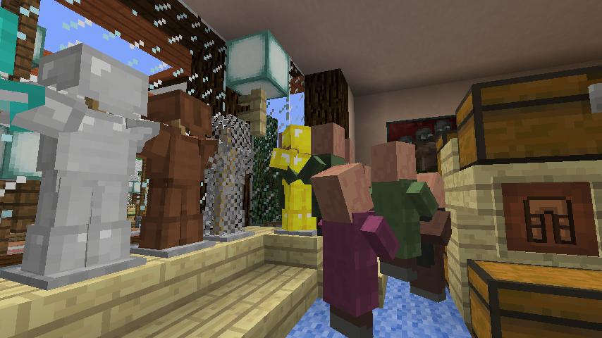 Minecrafterししゃもがマインクラフトでぷっこ村に服屋を作る7