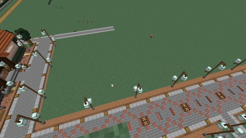 Minecrafterししゃもがマインクラフトでぷっこ村にチューダー様式の商店を建築する8