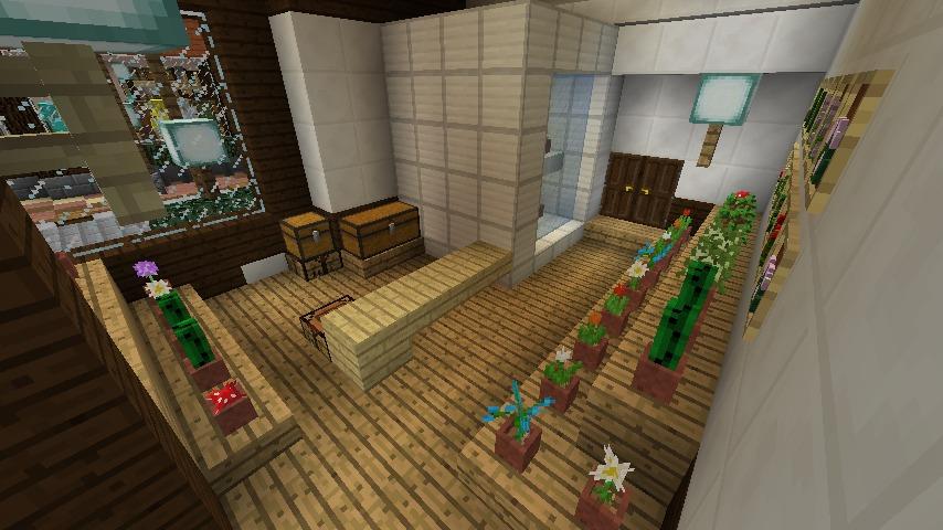 Minecrafterししゃもがマインクラフトでぷっこ村にチューダー様式の商店を建築する4