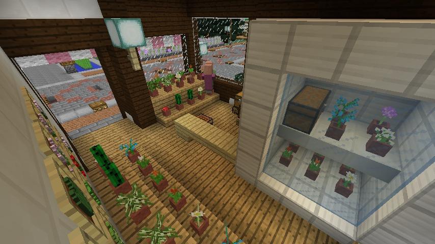 Minecrafterししゃもがマインクラフトでぷっこ村にチューダー様式の商店を建築する5