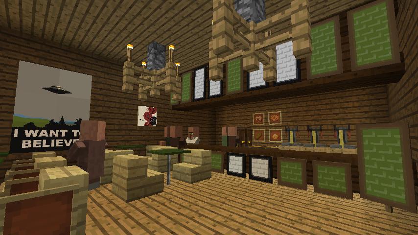 Minecrafterししゃもがマインクラフトでぷっこ村にチューダー様式の商店を建築する7
