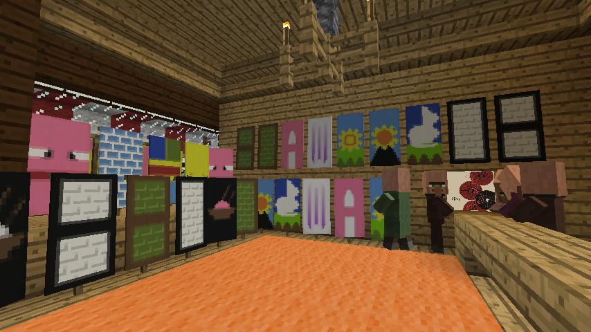 Minecrafterししゃもがマインクラフトでぷっこ村にチューダー様式の商店を建築する11