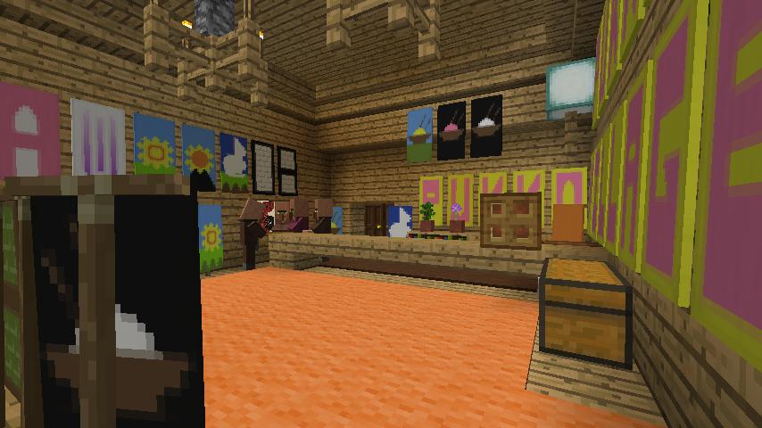Minecrafterししゃもがマインクラフトでぷっこ村にチューダー様式の商店を建築する9