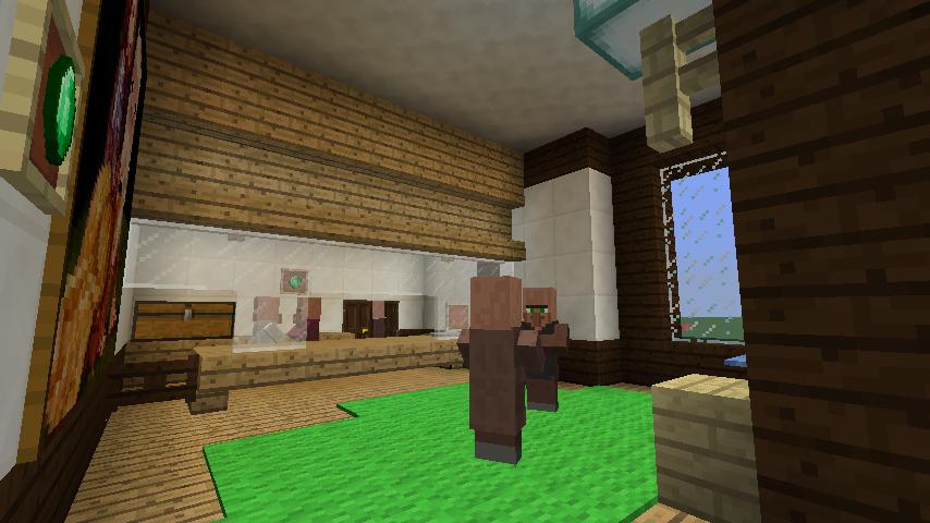 Minecrafterししゃもがマインクラフトでぷっこ村にチューダー様式の商店を建築する14