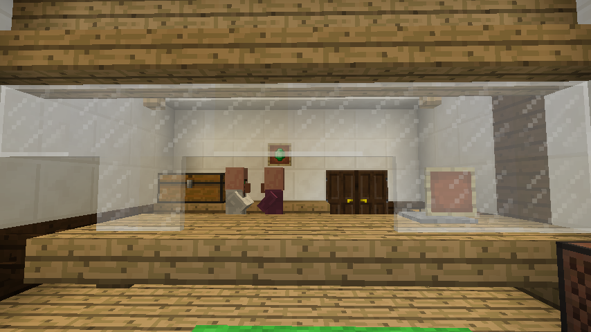 Minecrafterししゃもがマインクラフトでぷっこ村にチューダー様式の商店を建築する15