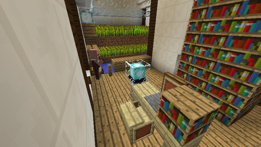 Minecrafterししゃもがマインクラフトでぷっこ村にチューダー様式の商店を建築する12