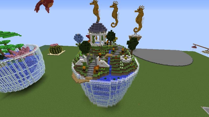 Minecrafterししゃもがマインクラフトでステキな広場を作る1