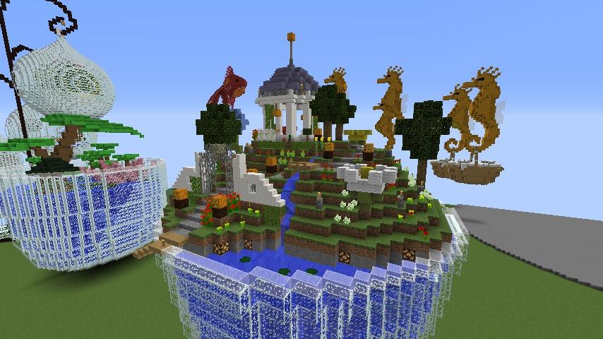 Minecrafterししゃもがマインクラフトでステキな広場を作る2
