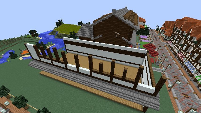 Minecrafterししゃもがマインクラフトでぷっこ村に和風建築でお土産屋を作る4