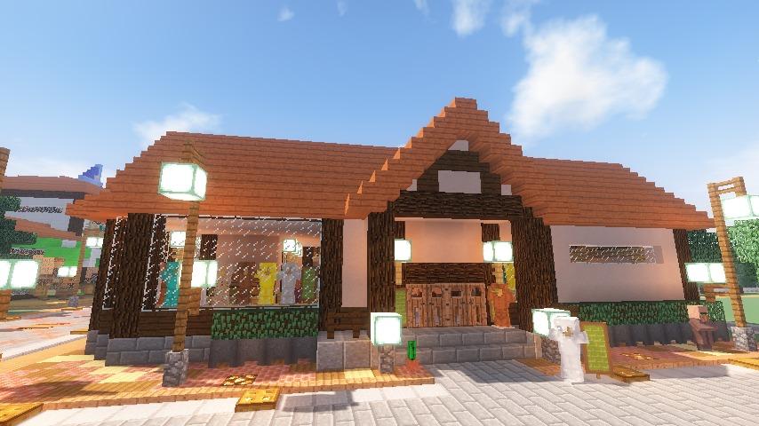 Minecrafterししゃもがマインクラフトでぷっこ村に服屋を作る14