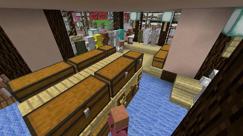 Minecrafterししゃもがマインクラフトでぷっこ村に服屋を作る9
