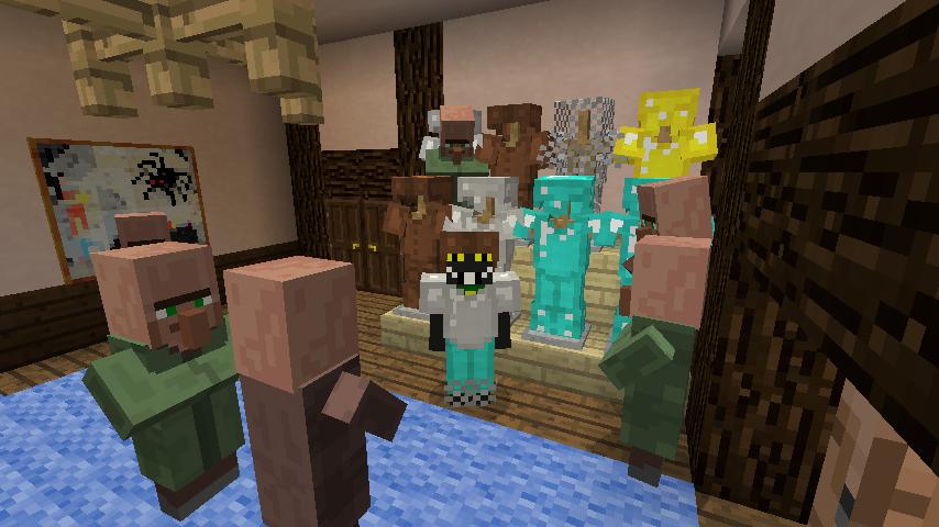 Minecrafterししゃもがマインクラフトでぷっこ村に服屋を作る11