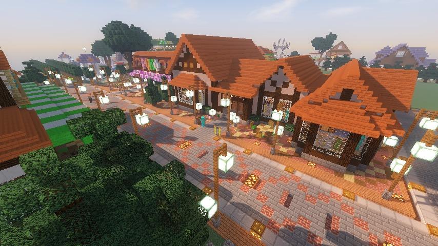 Minecrafterししゃもがマインクラフトでぷっこ村に服屋を作る15