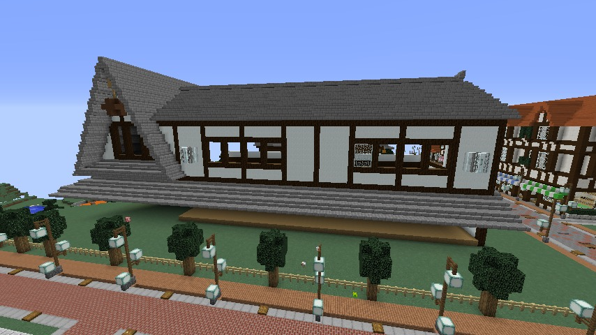 Minecrafterししゃもがマインクラフトでぷっこ村に和風建築でお土産屋を作る5