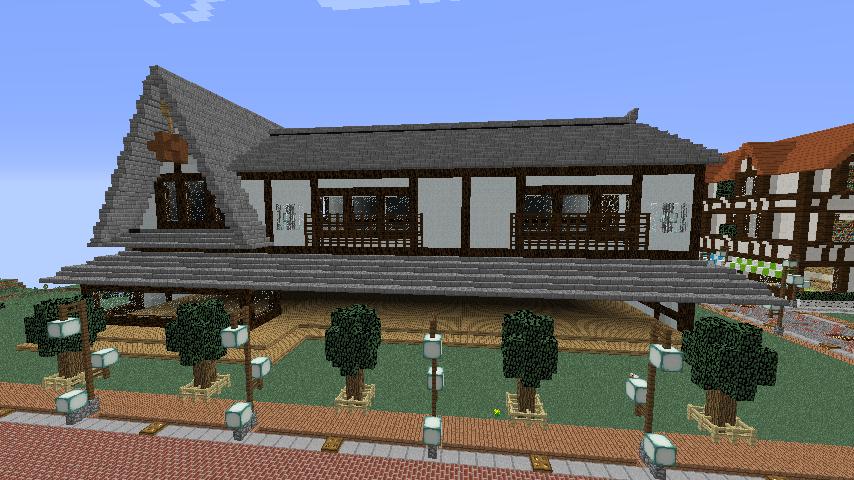 Minecrafterししゃもがマインクラフトでぷっこ村に和風建築でお土産屋を作る6