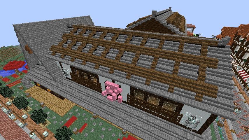 Minecrafterししゃもがマインクラフトでぷっこ村に和風建築でお土産屋を作る8