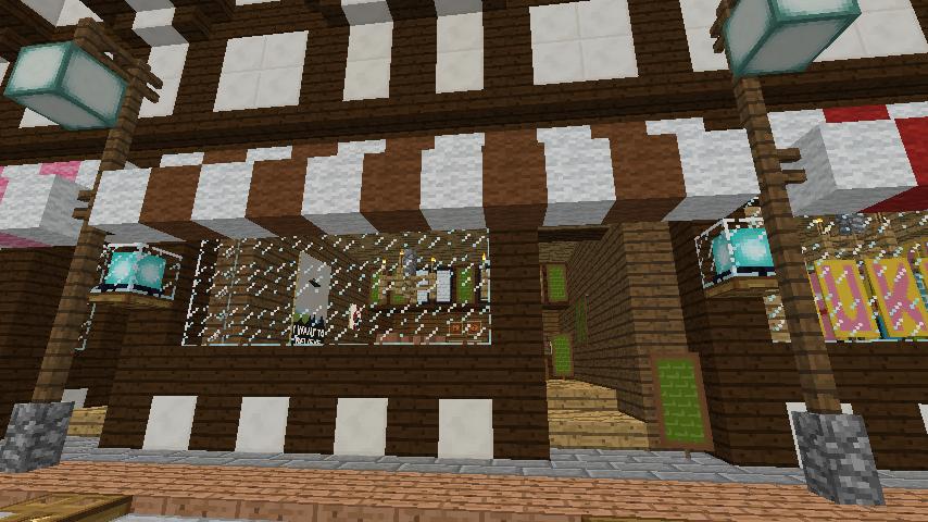 Minecrafterししゃもがマインクラフトでぷっこ村にチューダー様式の商店を建築する6
