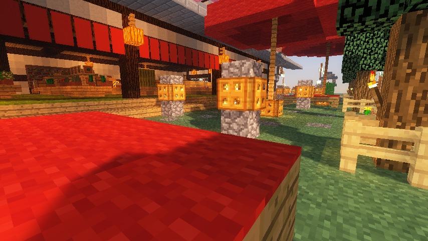 Minecrafterししゃもがマインクラフトでぷっこ村に和風建築でお土産屋を作る17