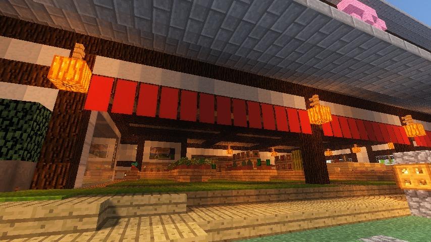Minecrafterししゃもがマインクラフトでぷっこ村に和風建築でお土産屋を作る9