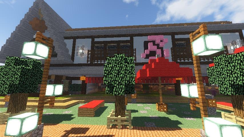 Minecrafterししゃもがマインクラフトでぷっこ村に和風建築でお土産屋を作る16