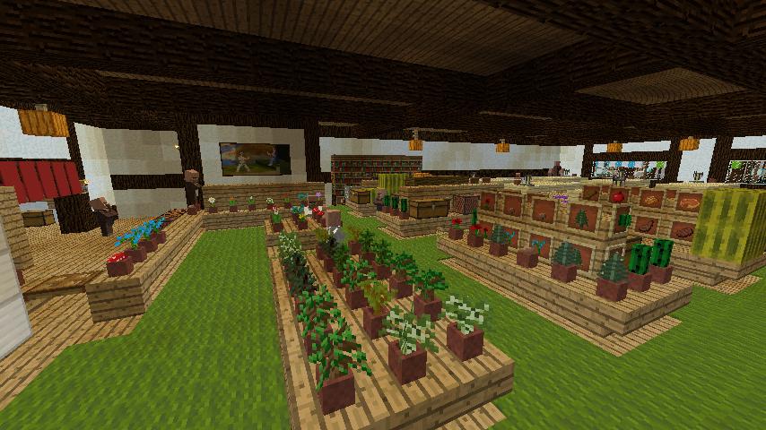 Minecrafterししゃもがマインクラフトでぷっこ村に和風建築でお土産屋を作る12