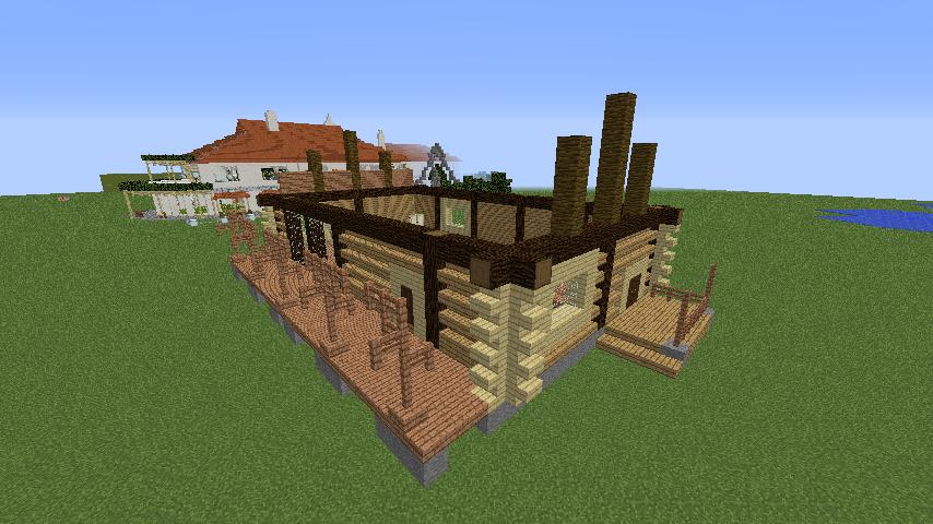 Minecrafterししゃもがマインクラフトでぷっこ村に移住者受け入れ用のログハウス7号を建築する3