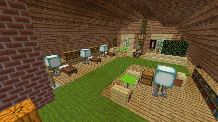 Minecrafterししゃもがマインクラフトでぷっこ村に移住者受け入れ用のログハウス7号を建築する13