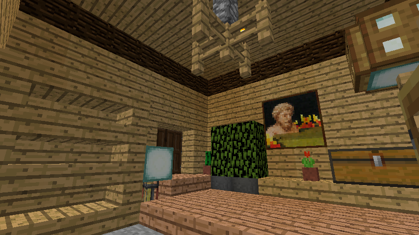 Minecrafterししゃもがマインクラフトでぷっこ村に移住者受け入れ用のログハウス7号を建築する9