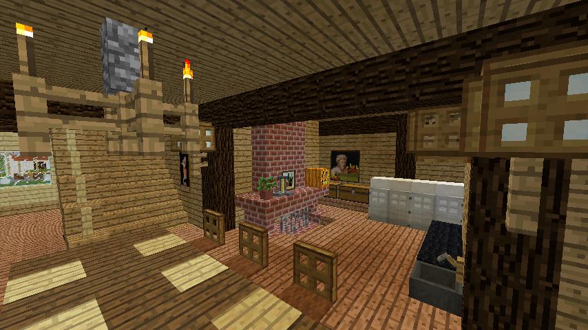 Minecrafterししゃもがマインクラフトでぷっこ村に移住者受け入れ用のログハウス7号を建築する11