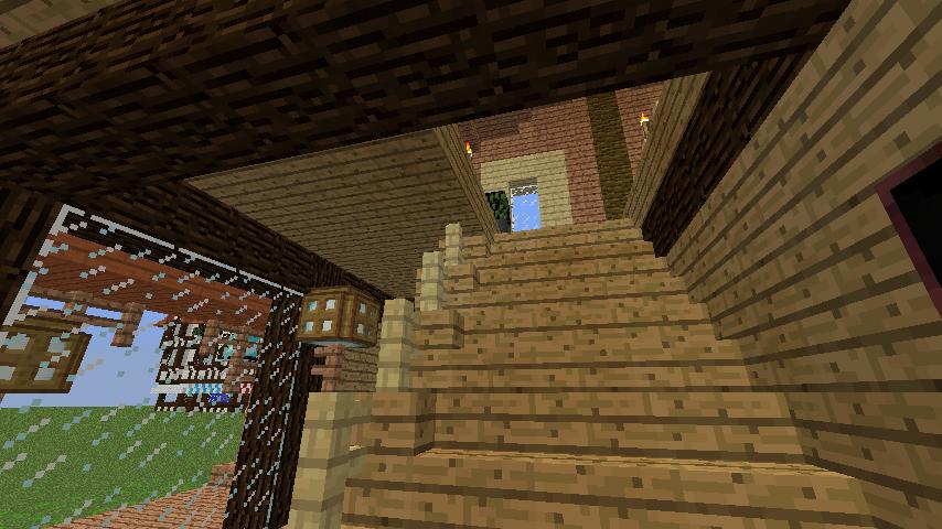 Minecrafterししゃもがマインクラフトでぷっこ村に移住者受け入れ用のログハウス7号を建築する12