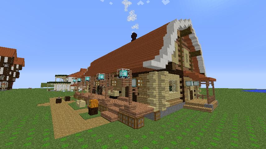 Minecrafterししゃもがマインクラフトでぷっこ村に移住者受け入れ用のログハウス7号を建築する6