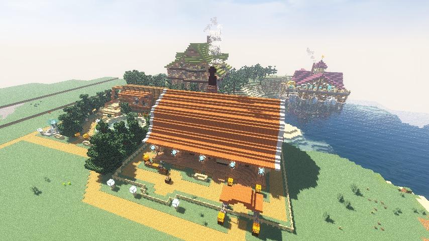 Minecrafterししゃもがマインクラフトでぷっこ村に移住者受け入れ用のログハウス7号を建築する14