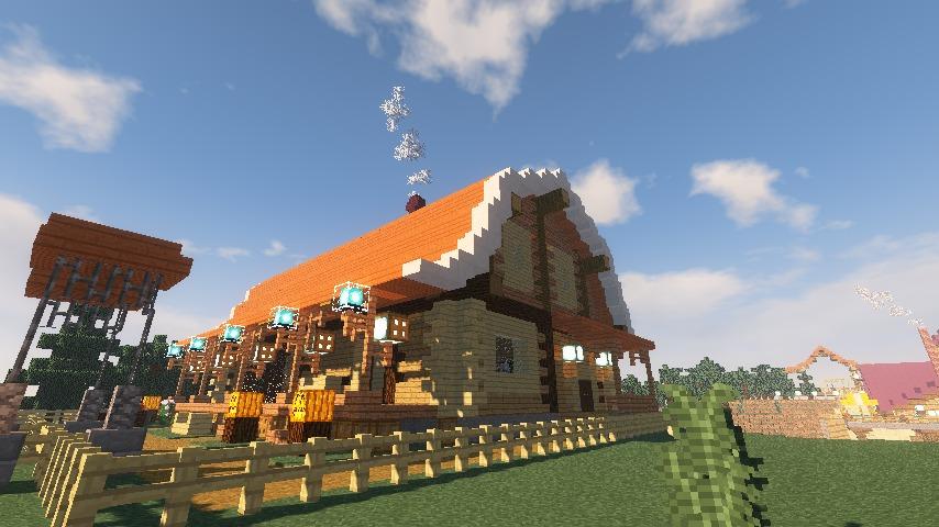 Minecrafterししゃもがマインクラフトでぷっこ村に移住者受け入れ用のログハウス7号を建築する15