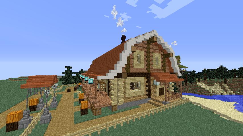 Minecrafterししゃもがマインクラフトでぷっこ村に移住者受け入れ用のログハウス7号を建築する7