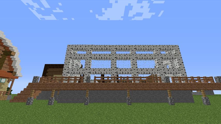 Minecrafterししゃもがマインクラフトでぷっこ村に移住者受け入れ用のログハウス8号を建てる3