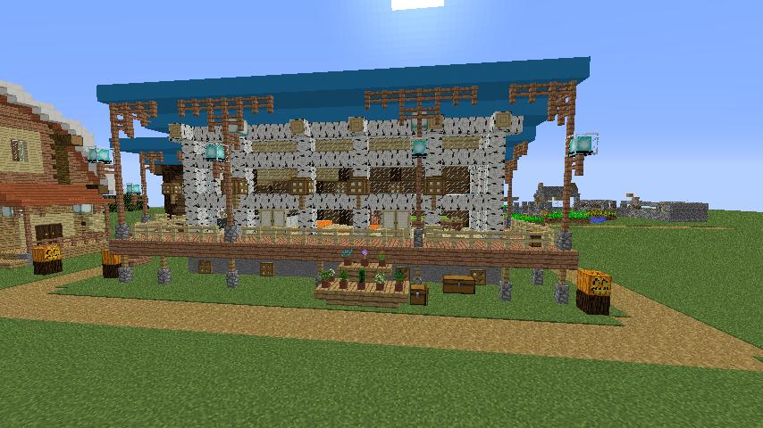 Minecrafterししゃもがマインクラフトでぷっこ村に移住者受け入れ用のログハウス8号を建てる4