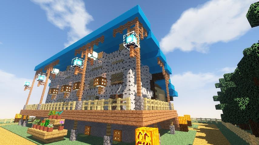 Minecrafterししゃもがマインクラフトでぷっこ村に移住者受け入れ用のログハウス8号を建てる13