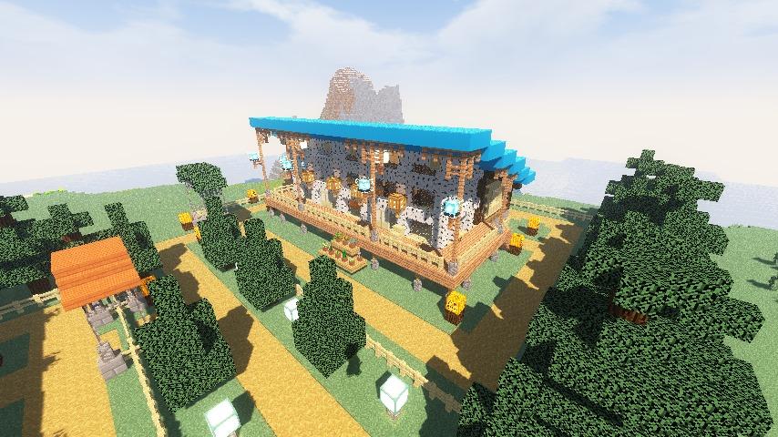 Minecrafterししゃもがマインクラフトでぷっこ村に移住者受け入れ用のログハウス8号を建てる15