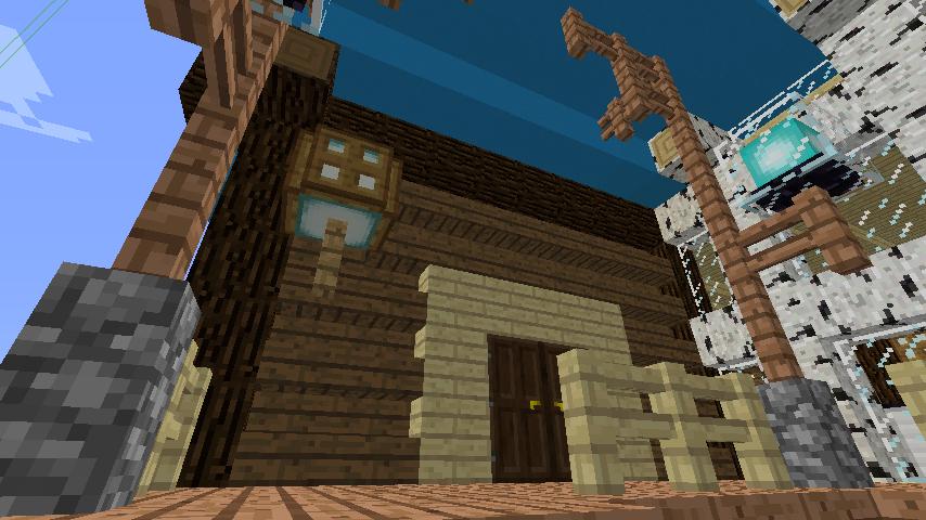 Minecrafterししゃもがマインクラフトでぷっこ村に移住者受け入れ用のログハウス8号を建てる7