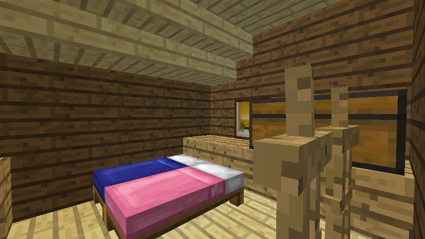 Minecrafterししゃもがマインクラフトでぷっこ村に移住者受け入れ用のログハウス8号を建てる9
