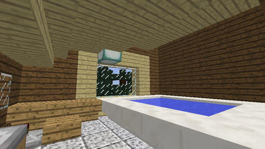 Minecrafterししゃもがマインクラフトでぷっこ村に移住者受け入れ用のログハウス8号を建てる11