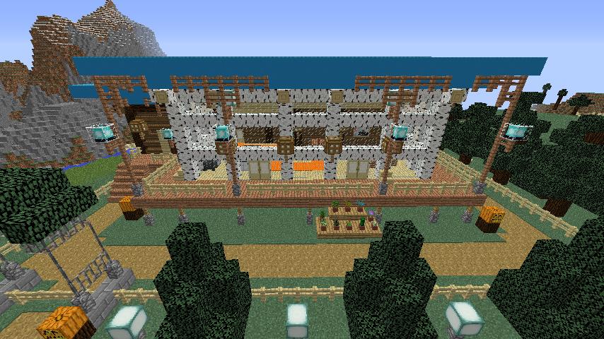 Minecrafterししゃもがマインクラフトでぷっこ村に移住者受け入れ用のログハウス8号を建てる5
