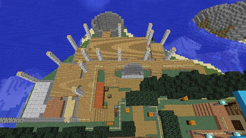 Minecrafterししゃもがマインクラフトでぷっこ村に灯台付きの移住者受け入れ用のログハウス9号を建築する3