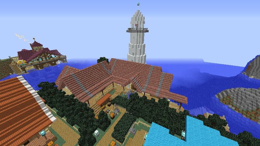Minecrafterししゃもがマインクラフトでぷっこ村に灯台付きの移住者受け入れ用のログハウス9号を建築する7