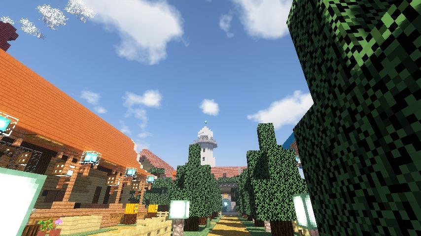 Minecrafterししゃもがマインクラフトでぷっこ村に灯台付きの移住者受け入れ用のログハウス9号を建築する8