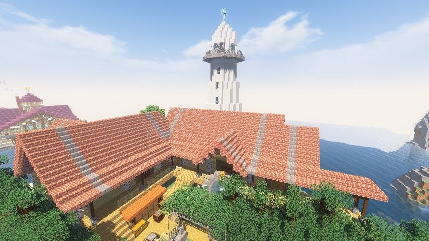 Minecrafterししゃもがマインクラフトでぷっこ村に灯台付きの移住者受け入れ用のログハウス9号を建築する10