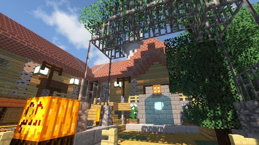 Minecrafterししゃもがマインクラフトでぷっこ村に灯台付きの移住者受け入れ用のログハウス9号を建築する9