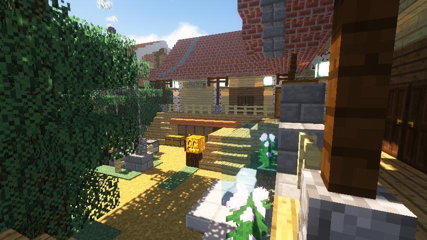 Minecrafterししゃもがマインクラフトでぷっこ村に灯台付きの移住者受け入れ用のログハウス9号を建築する12